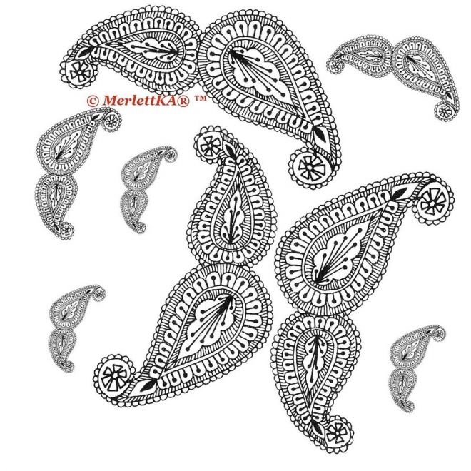 Красивые рисунок индийский орнамент (7)