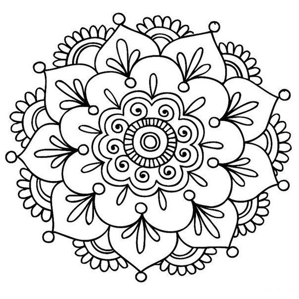 Красивые рисунок индийский орнамент (8)