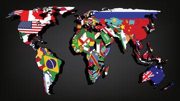 Красивый дизайн карта мира (18)