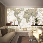 Красивый дизайн карта мира