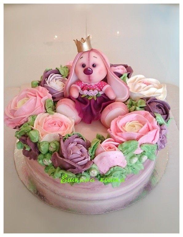 Красивый тортик с зайкой ми003