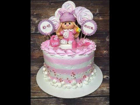 Красивый тортик с зайкой ми004