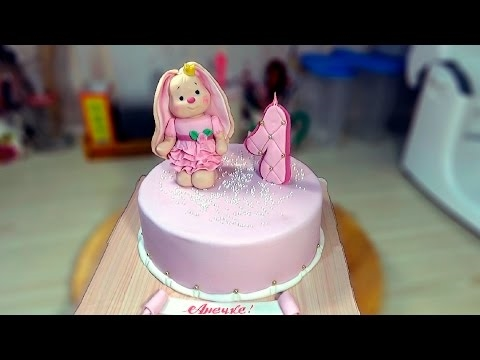 Красивый тортик с зайкой ми006