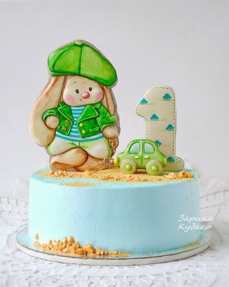 Красивый тортик с зайкой ми007