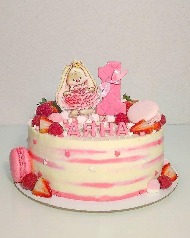 Красивый тортик с зайкой ми014