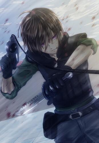 Крутые персонажи аниме в военной форме004