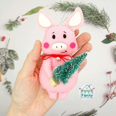 Милая игрушка в детский сад на Новый год - фото идеи007
