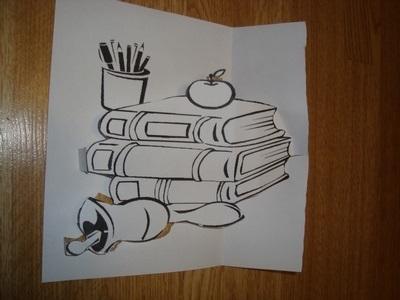 Милый рисунок карандашом день учителя007