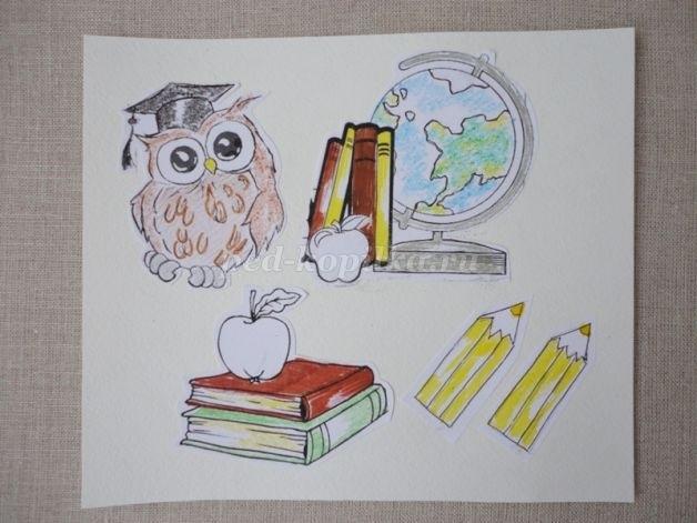 Марки, открытки для дня учителя нарисовать
