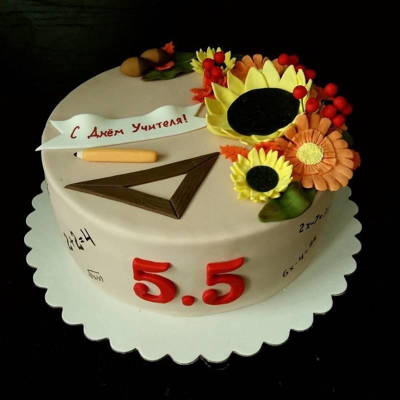 Оригинальный торт на день учителя022
