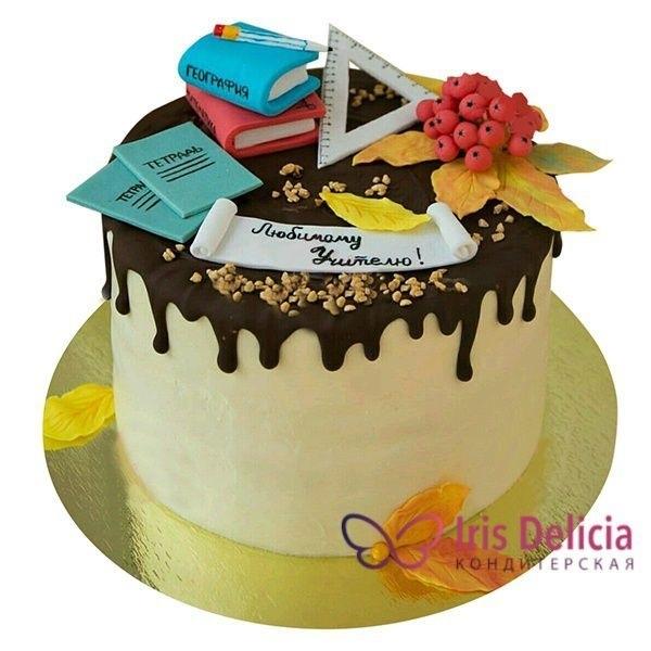 Оригинальный торт на день учителя024