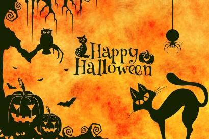 Поздравления в картинках на Хэллоуин (5)