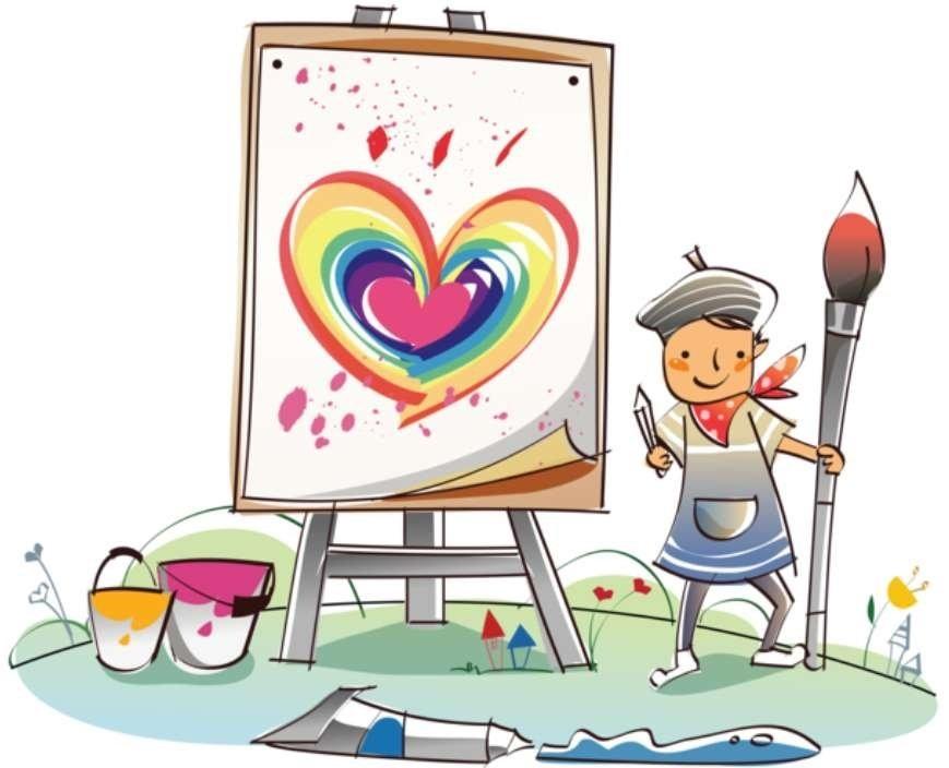 Учитель рисования картинка для детей