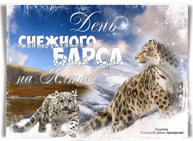 С днем снежного барса открытки и фото (1)
