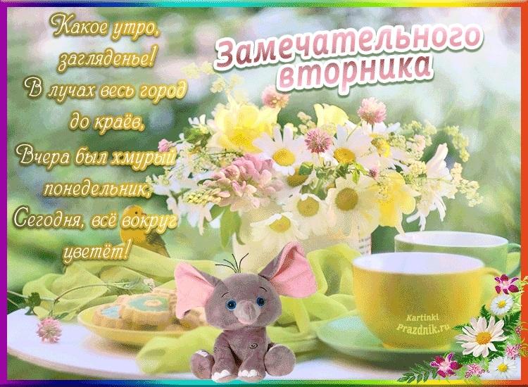 С добрым утром вторника фото и открытки007
