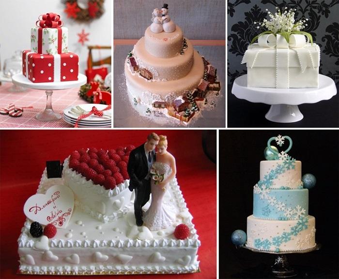 Торт зимний фото идеи001