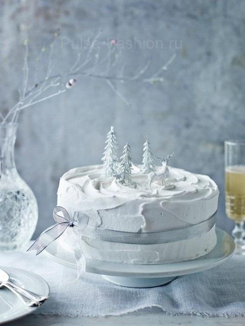 Торт зимний фото идеи004