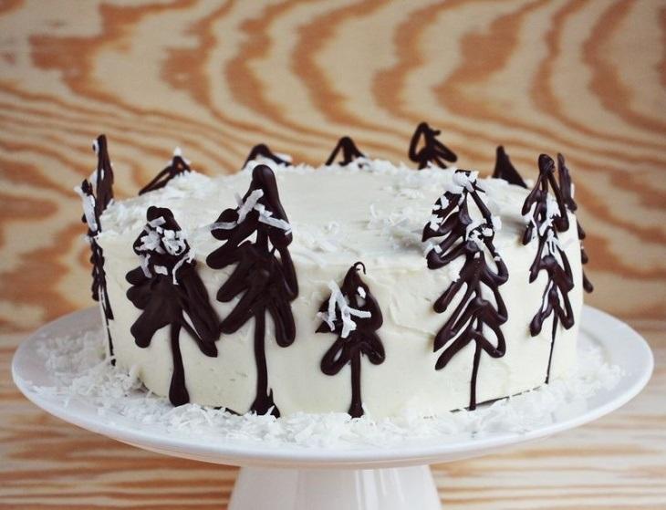 Торт зимний фото идеи005