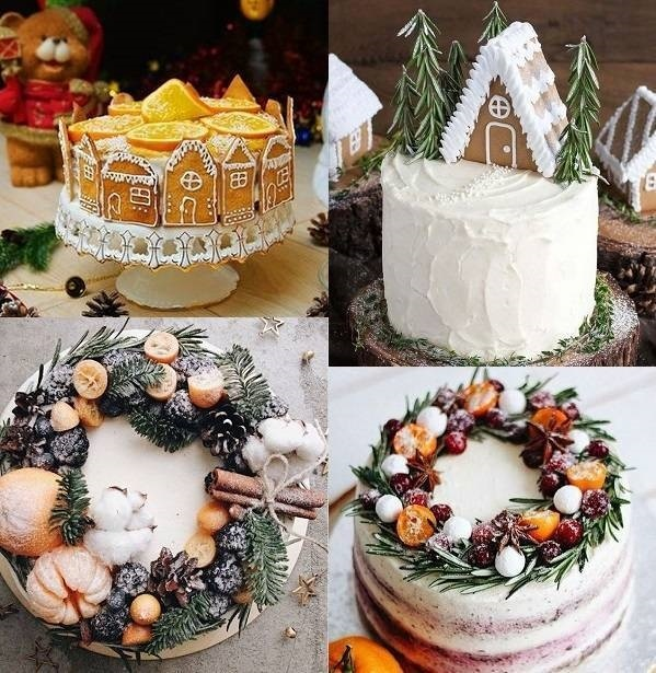 Торт зимний фото идеи006