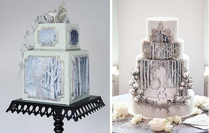 Торт зимний фото идеи007