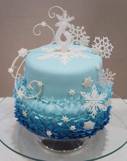 Торт зимний фото идеи008