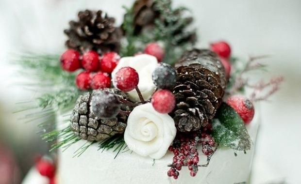 Торт зимний фото идеи011