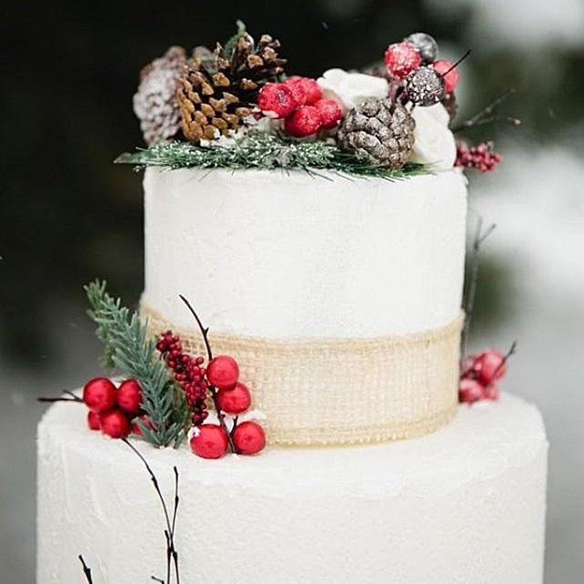 Торт зимний фото идеи014