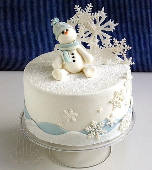 Торт зимний фото идеи015