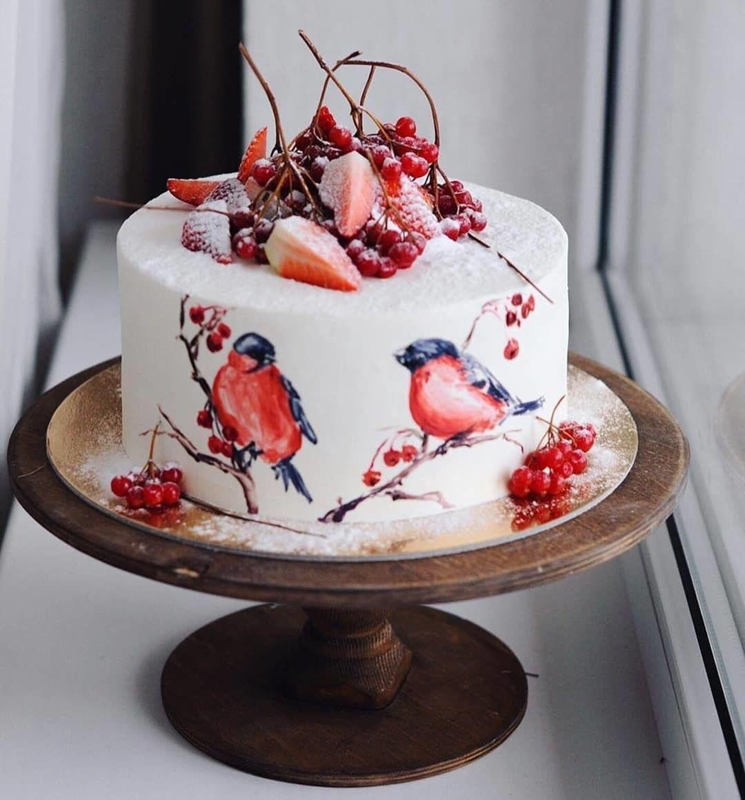 Торт зимний фото идеи016