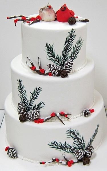 Торт зимний фото идеи017