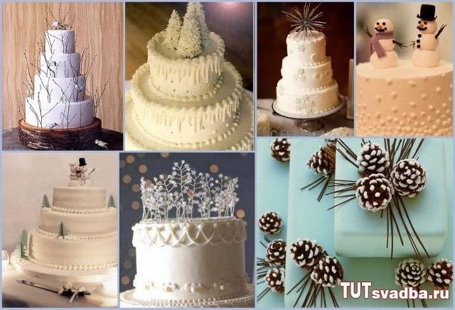 Торт зимний фото идеи018