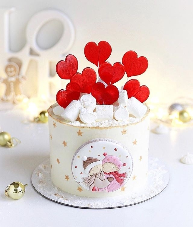 Торт зимний фото идеи019
