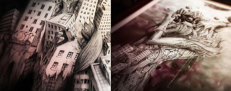 Удивительные рисунки вдохновение карандашом012