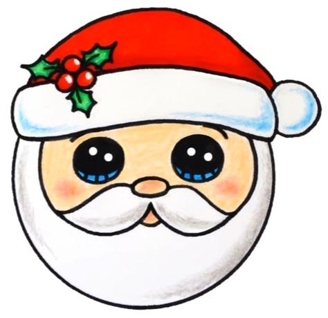 Удивительный рисунок Деду Морозу на новый год001