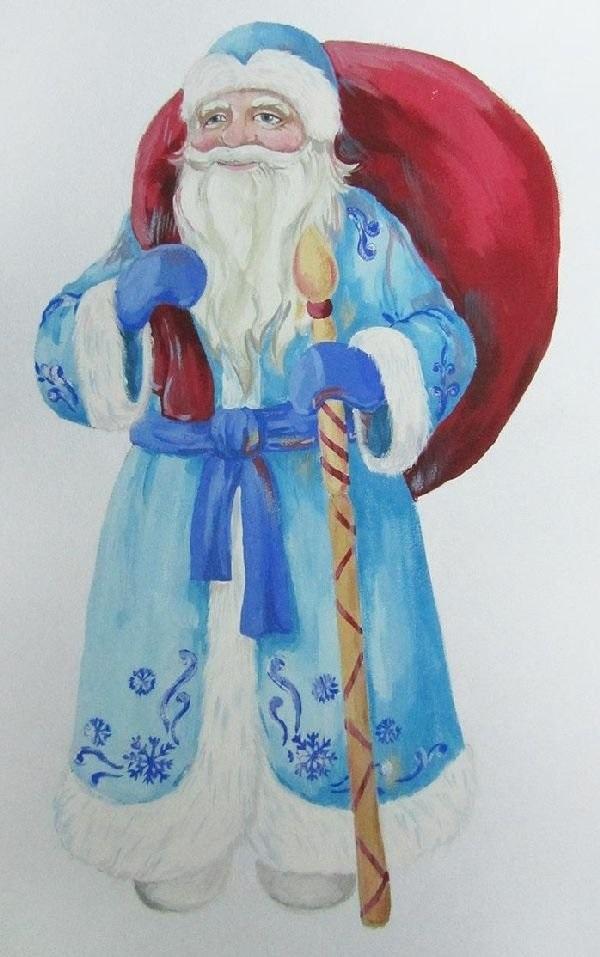 Удивительный рисунок Деду Морозу на новый год002