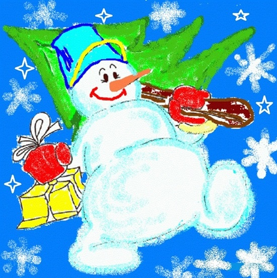 Удивительный рисунок Деду Морозу на новый год004