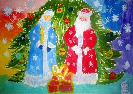 Удивительный рисунок Деду Морозу на новый год005