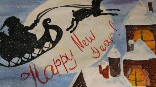 Удивительный рисунок Деду Морозу на новый год006