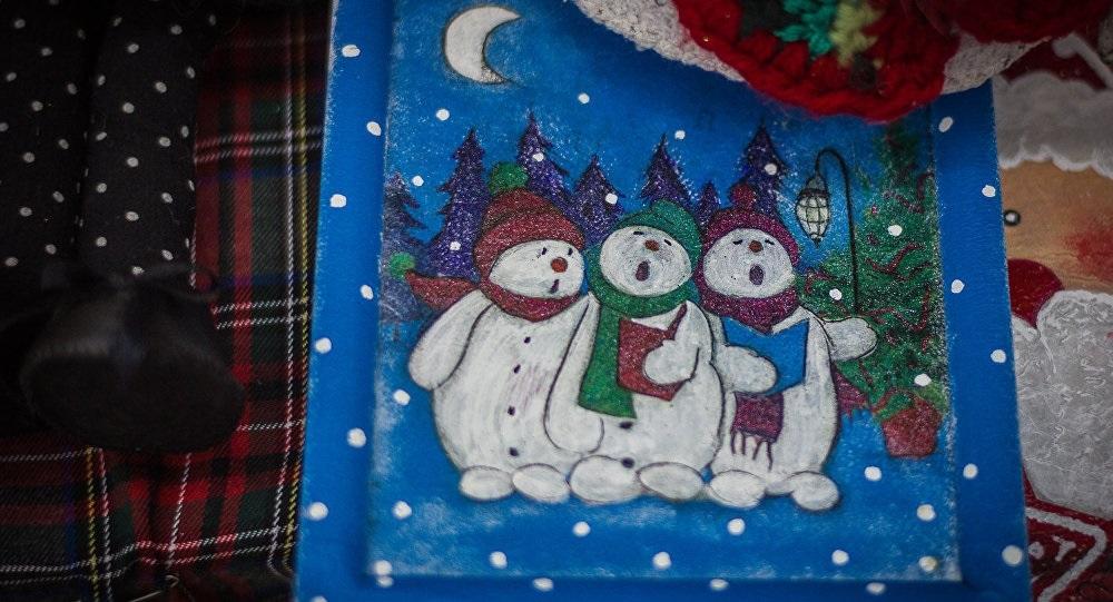 Удивительный рисунок Деду Морозу на новый год015