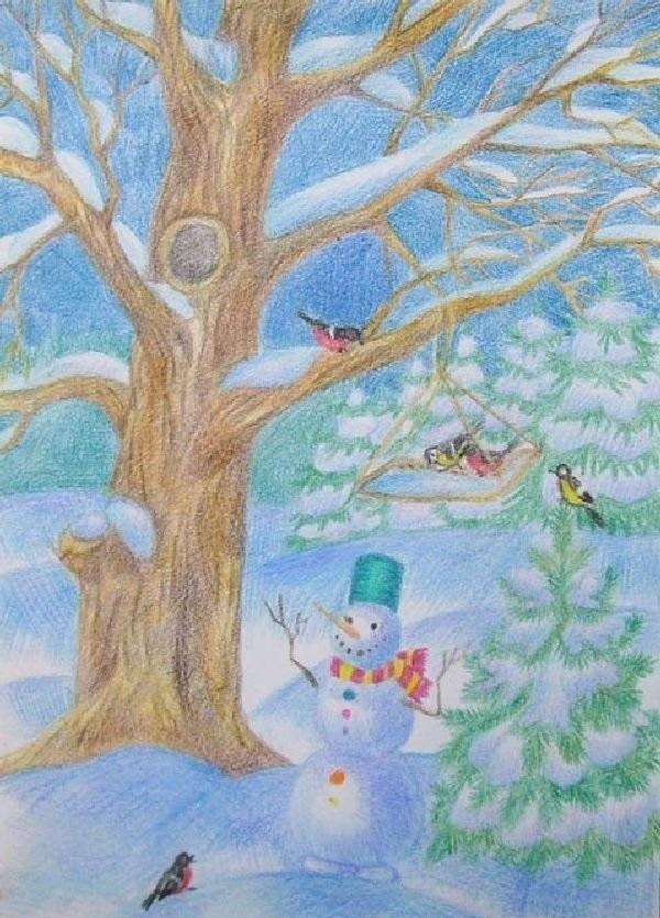 Удивительный рисунок Деду Морозу на новый год023