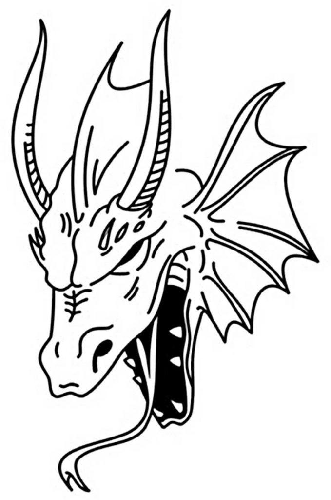 Эскиз дракон с цветами - подборка фото007