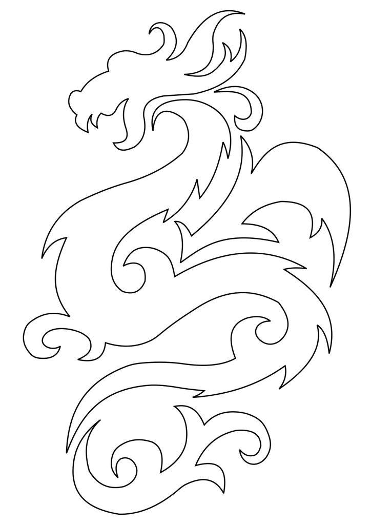 Эскиз дракон с цветами - подборка фото019