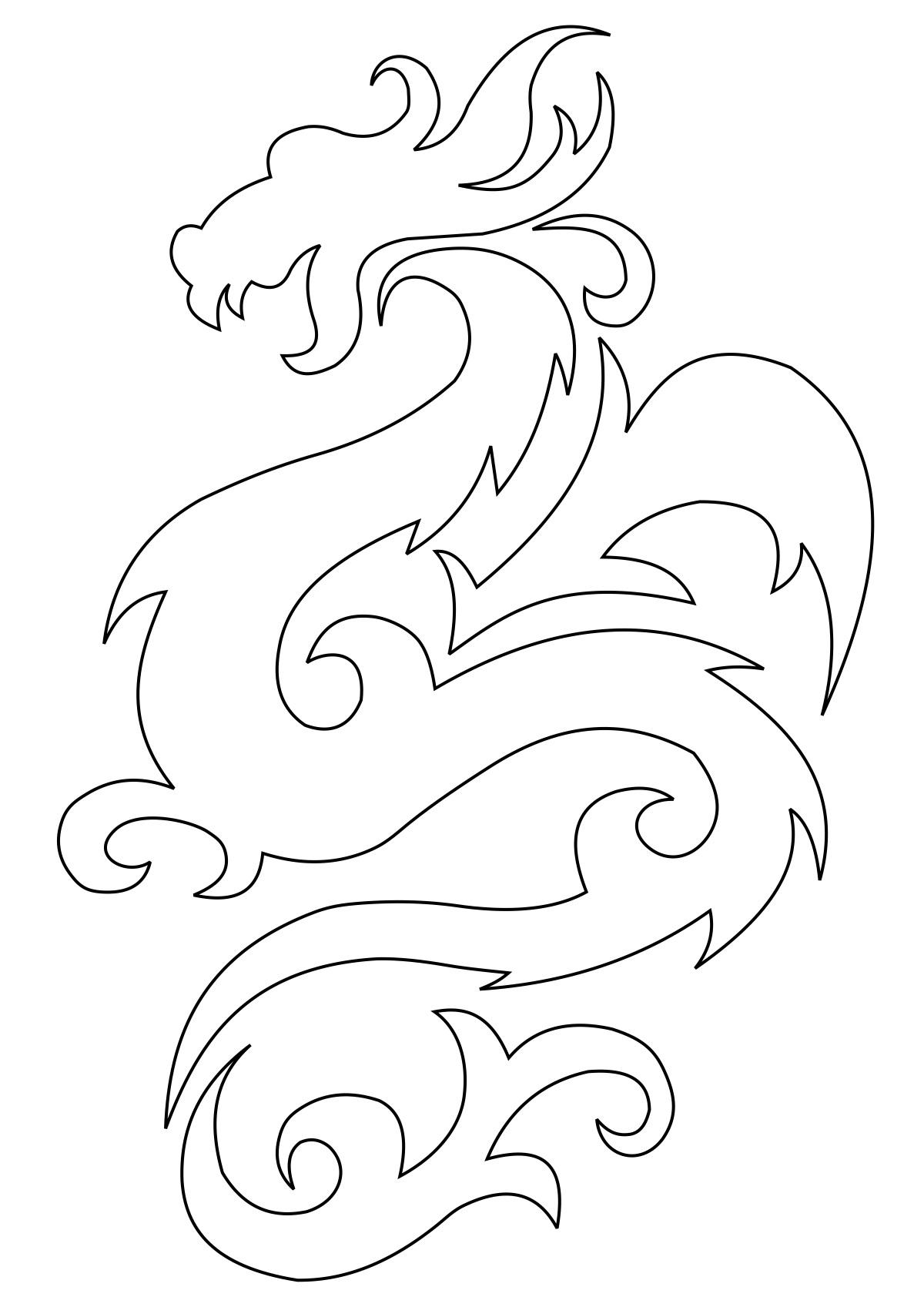 Эскиз дракон с цветами   подборка фото019