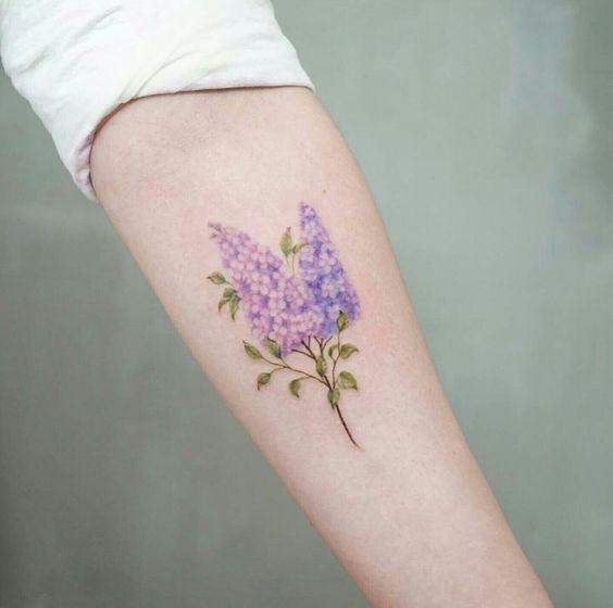 Эскиз тату маленькие цветочки006