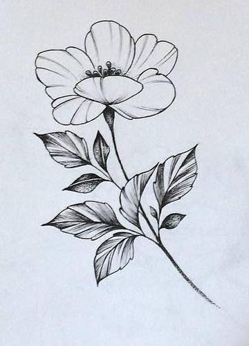 Эскиз тату маленькие цветочки013