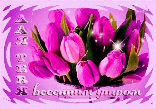 Весенние открытки с пожеланием доброго утра012
