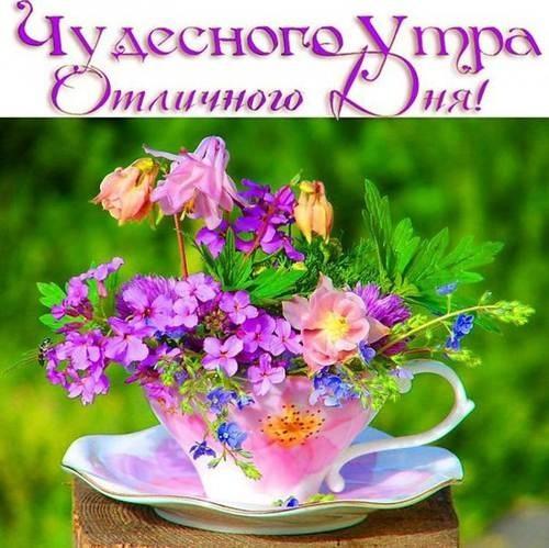 Весенние открытки с пожеланием доброго утра016