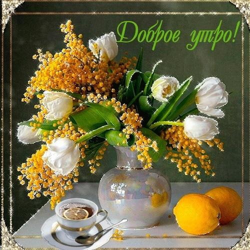 Весенние открытки с пожеланием доброго утра017