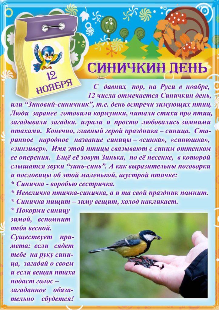 Картинки на праздник Синичкин день (15)