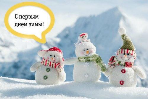 Картинки прикольные с первым днем зимы (17)
